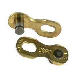 Sram 9x SRAM Kettenverschluss Power Link, fÌ_r 9-fach Ketten, gold,