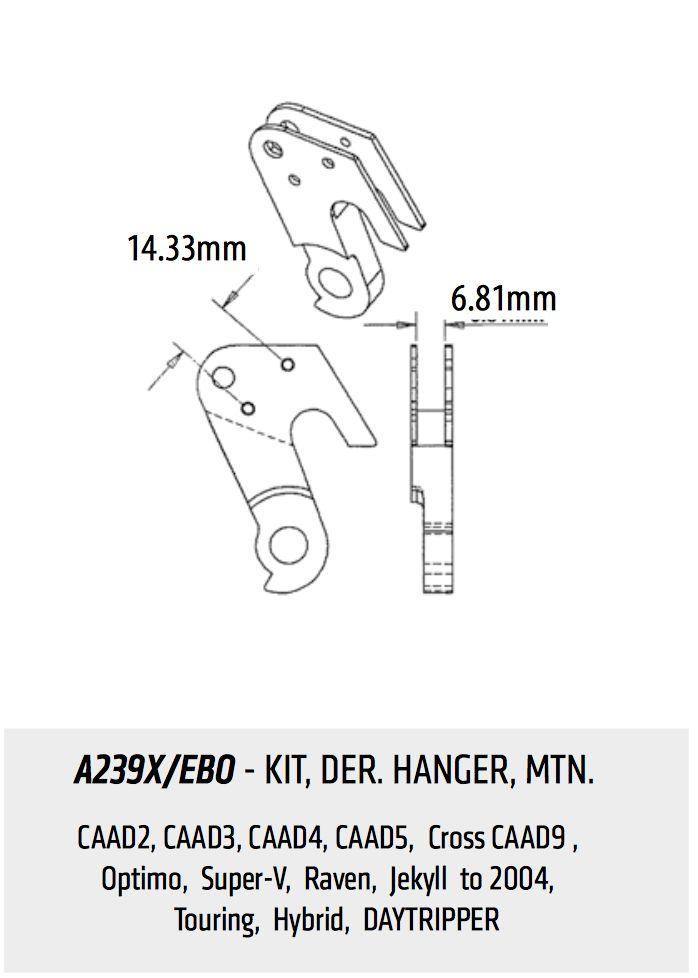Cannondale CANNONDALE SCHALTAUGE A239X/EBO 14,33mm / 4,67