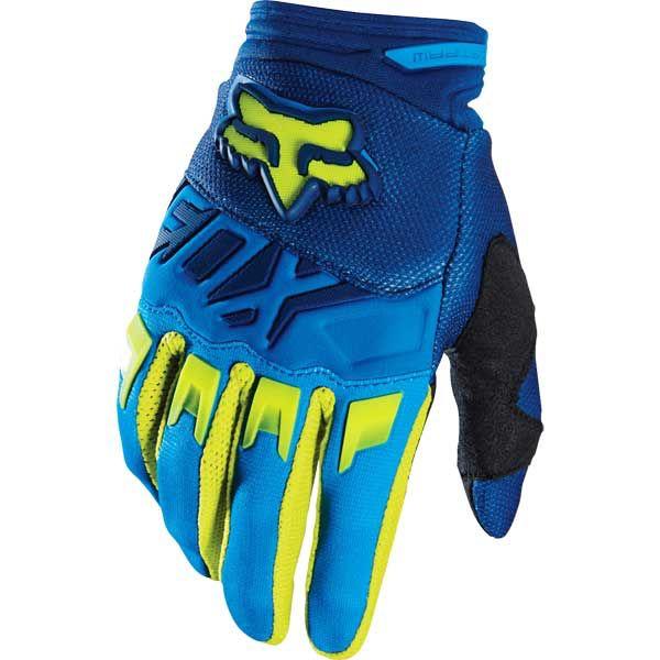 FOX Youth/Kids Dirtpaw Glove blue/yellow small