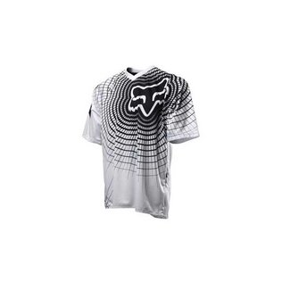 FOX 360 Short Sleeve Jersey Medium white/blk