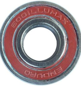 ENDURO BEARINGS 6001 LLU ABEC 3 MAX Lager, 12 x 28 x 8 6001LLUMAX