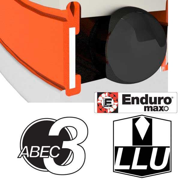 ENDURO BEARINGS 608 LLU ABEC 3 MAX Lager, 8 x 22 x 7 608LLUMAX