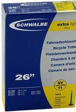 """SCHLAUCH SCHWALBE SV 11 60MM, 26"""" 18/25-559/571 EXTRALIGHT"""