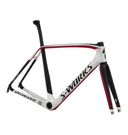 Specialized S-WORKS TARMAC FRMSET WHT/CARB/BLK/RED 56