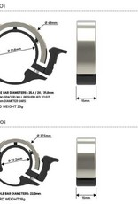 KNOG Oi Classic Small Fahrradklingel, 22.2mm, black