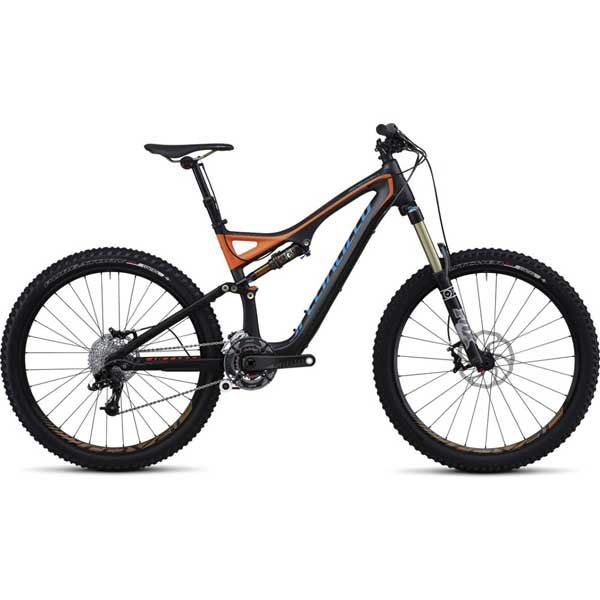 """Specialized SPECIALIZED STUMPJUMPER FSR EXPERT CARBON EVO 26"""" CHAR/ORG/CYAN Large"""