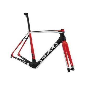 Specialized SPECIALIZED S-WORKS TARMAC DISC FRMSET CARB/RKTRED/WHT 56