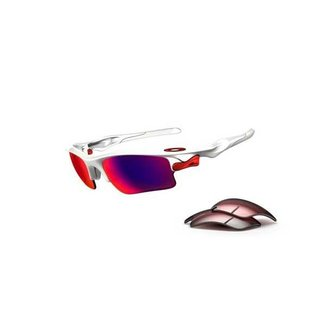 OAKLEY FAST JACKET polished white/OO red G40 polarized