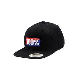 100% CLASSIC SNAPBACK HAT black S/M