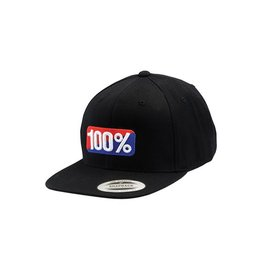 100% CLASSIC SNAPBACK HAT black L/XL