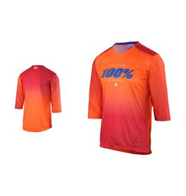 100% 100% AIRMATIC BLAZE ENDURO/TRAIL 3/4 JERSEY orange XLarge