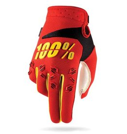 100% 100% AIRMATIC GLOVE KIDS Large red