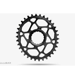 absoluteBLACK Race Face Cinch ovales Kettenblatt, spiderless, Boost148,  30Z,schwarz, Kettenblattdurchmesservariation: 28Z - 32Z