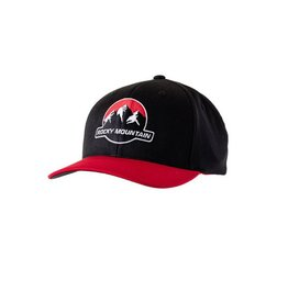 ROCKY MOUNTAIN HAT NEW LOGO BLK/RED flexfit L/XL