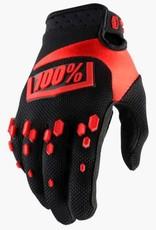 100% 100% AIRMATIC GLOVE KIDS Large black/red