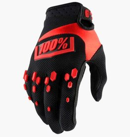 100% 100% AIRMATIC GLOVE KIDS Medium black/red
