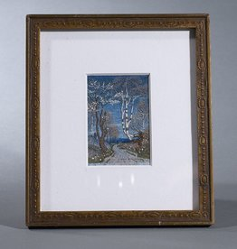 MINIATURE WATER COLOUR OF SWEDISH BIRCH TREES