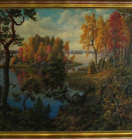 OIL ON CANVAS OF SWEDISH LANDSCAPE