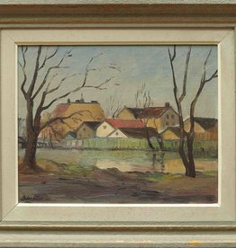 SWEDISH LANDSCAPE, OIL ON BOARD, SIGNED OSKAR PERSON,49X57CM, SWEDEN 1952