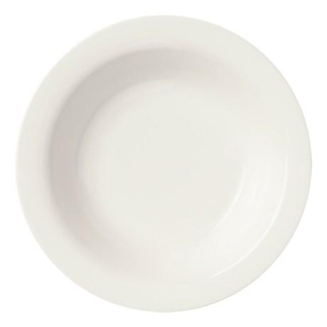 SARJATON PLATE DEEP, WHITE, 22 CM