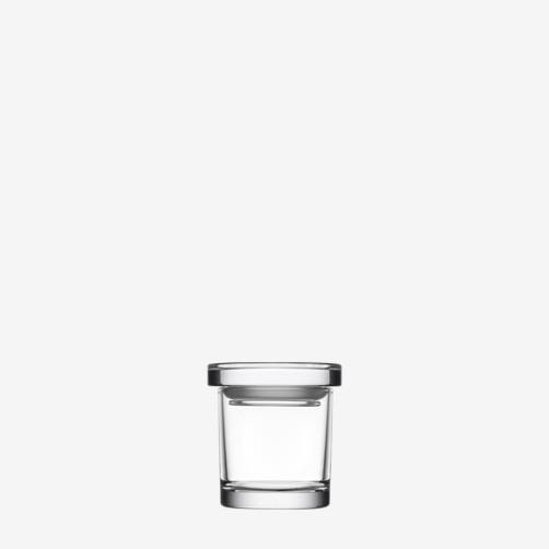 IITTALA JARS, CLEAR JAR, 65 x 60 MM