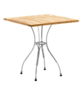 SIKA DESIGN ATLAS TABLE, NATURAL TEAK SQUARE TOP