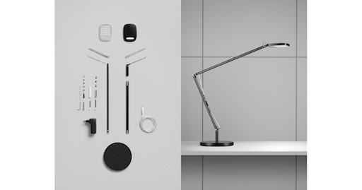 BIRDIE TABLE LAMP IN GRAPHITE BLACK ALUMINIUM FRAME