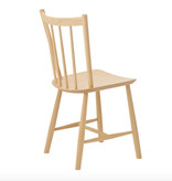 FREDERICIA J49 DINING CHAIR IN UNTREATED BEECH, W46.5 x D47.5 x H83 CM, SH:44.5 CM
