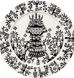 IITTALA TAIKA BLACK PLATE, FLAT, 27 CM