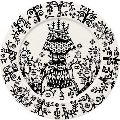 TAIKA BLACK PLATE, FLAT, 27 CM