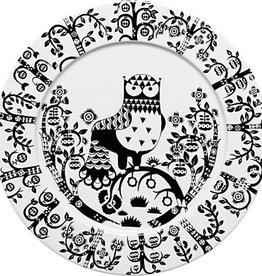 IITTALA TAIKA BLACK PLATE, FLAT, 30 CM