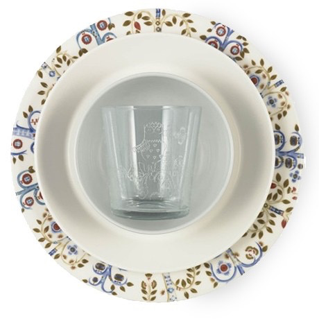 TAIKA WHITE PLATE, FLAT, 27CM