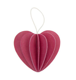 HEART SHAPED ORNAMENT IN PINK (SMALL)
