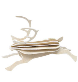 LOVI REINDEER SHAPED ORNAMENT IN NATURAL