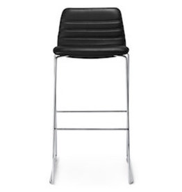 PAUSTIAN SPINAL 44 BARSTOOL IN STANDARD BLACK LEATHER