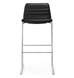 SPINAL 44 酒吧椅子连标准黑色皮革