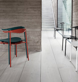 CARL HANSEN & SON (DISPLAY) CH88T, STACKABLE CHAIR IN ORANGE RED COLORED BEECH