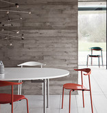 (DISPLAY) CH88T, STACKABLE CHAIR IN ORANGE RED COLORED BEECH