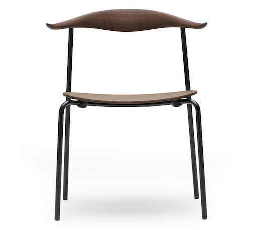 CARL HANSEN & SON CH88T, STACKABLE CHAIR WITH SEAT & BACK IN SMOKED OAK