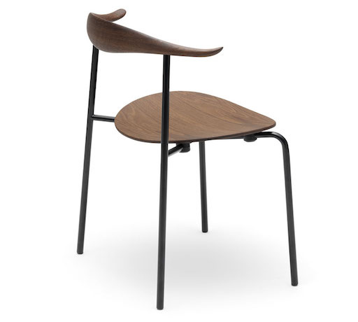 CH88T, STACKABLE CHAIR WITH SEAT & BACK IN SMOKED OAK