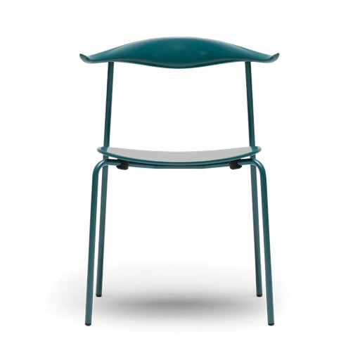 (DISPLAY) CH88T, STACKABLE CHAIR IN PETROL GREEN COLORED  BEECH