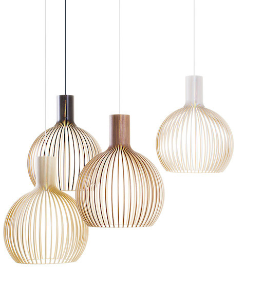 OCTO 4240 PENDANT LAMP IN WALNUT