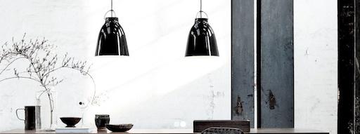 CARAVAGGIO P3 PENDANT LIGHT, BLACK HIGH GLOSS LACQUER