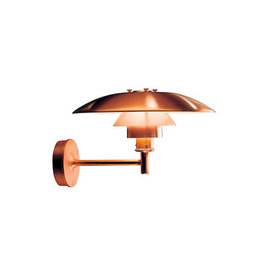 LOUIS POULSEN PH 3-2 1/2 WALL LAMP BRUSHED COPPER PLATES