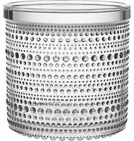 IITTALA KASTEHELMI JAR, CLEAR, 11.6 x 11.4 CM
