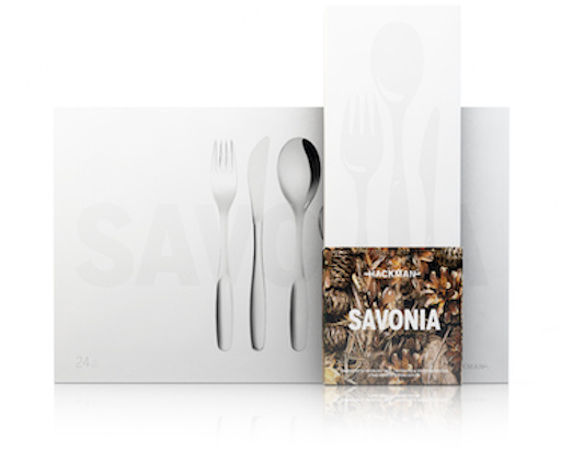 HACKMAN SAVONIA SERIES DINNER KNIFE, STAINLESS STEEL, 6-PC PACK, L19.5CM
