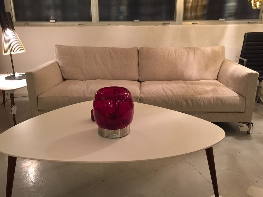 (DISPLAY) MISSION SOFA, UPHOLSTERED IN #07 TANGENT FABRIC