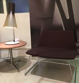 PAUSTIAN SPINAL 80 LOUNGE CHAIR, RUNNER LEGS IN POLISHED CHROME