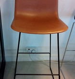 FREDERICIA 4302 PATO BARSTOOL, FULLY UPHOLSTERED IN WALNUT LEATHER