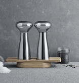 GEORG JENSEN ALFREDO SALT AND PEPPER MILLS IN MIRROR-FINISH STAINLESS STEEL